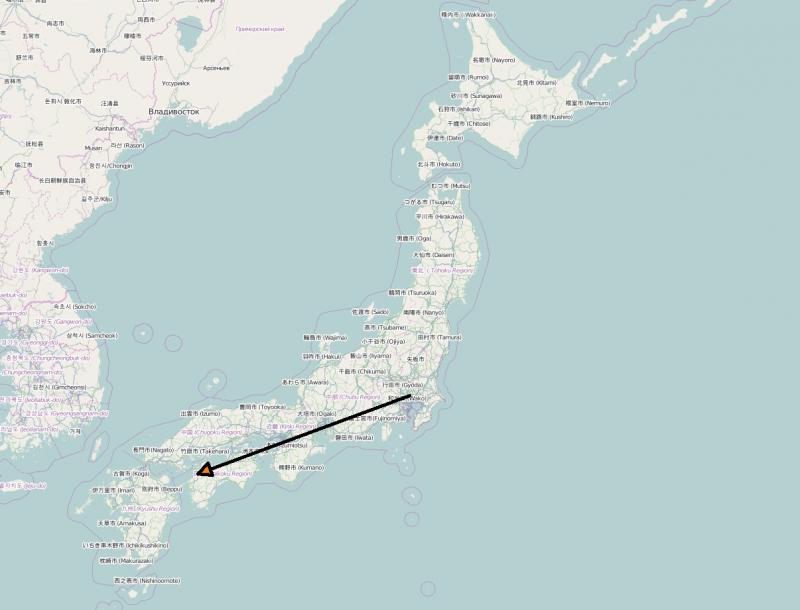 Ist schon ein kleines Stück von Tokyo nach Matsuyama