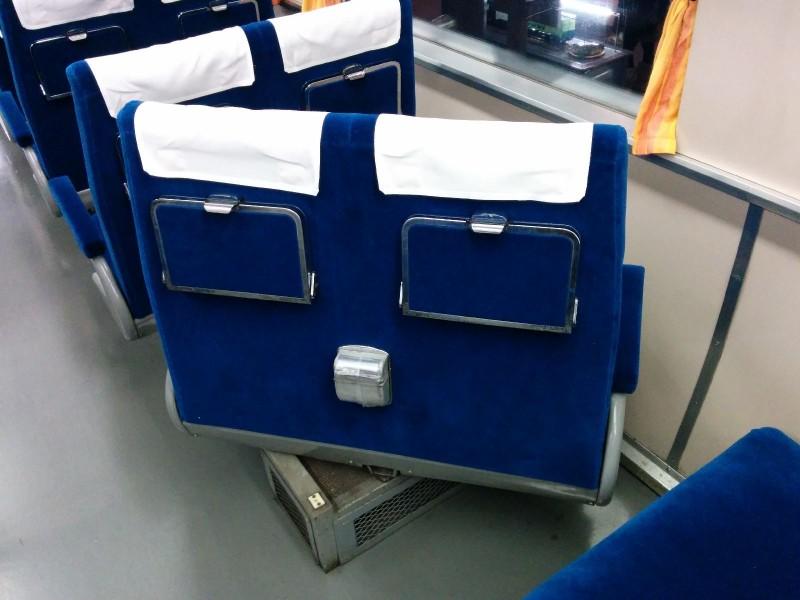 Sitze drehen kann man in Japan schon länger - so auch in diesem etwas älterem Limited Express