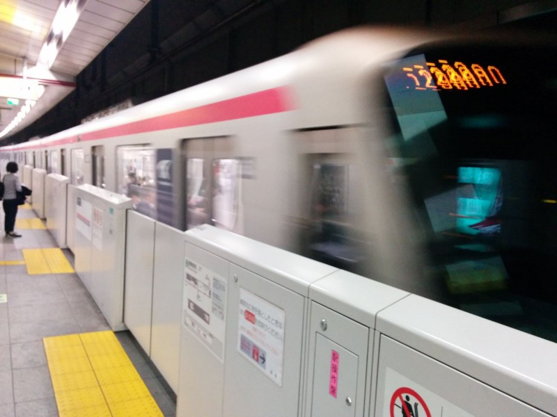 Perfektes Bild vom Tsukuba Express.