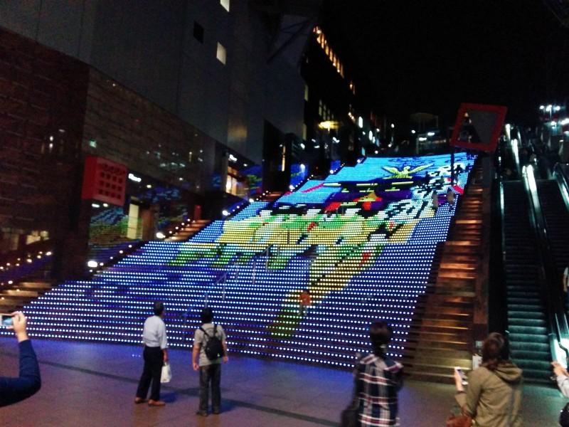 Wir fanden diese kleinere Treppe in der Kyoto Station.