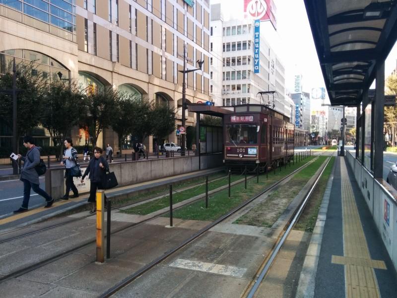 Straßenbahn in Kumamoto