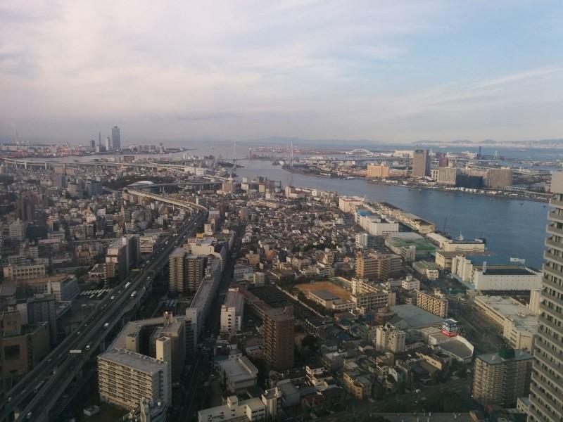 Aussicht aus meinem Hotelzimmer im 48. Stock