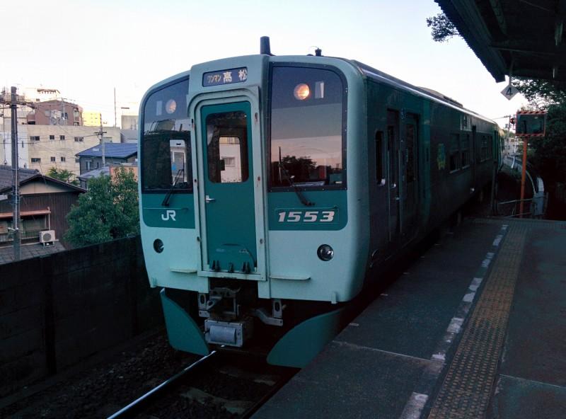 JR Kotoku Line nach Takamatsu